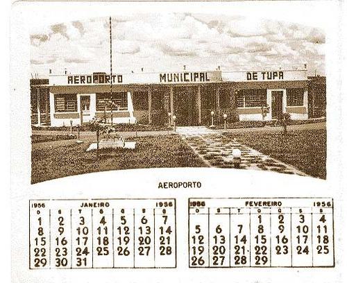 Calendário Aeroporto Municipal de Tupã
