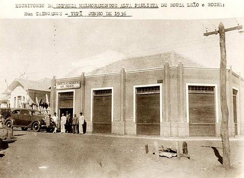 Escritório da Empreza Melhoramentos Alta Paulista de Souza Leão e Rocha; Rua Caingans – Tupã junho de 1936