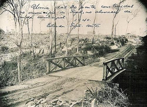 Uma das 20 pontes construidas no município de Tupã, no alvorecer da vida municipal.