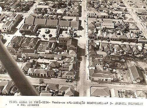 Vista Aérea de Tupã – 1945